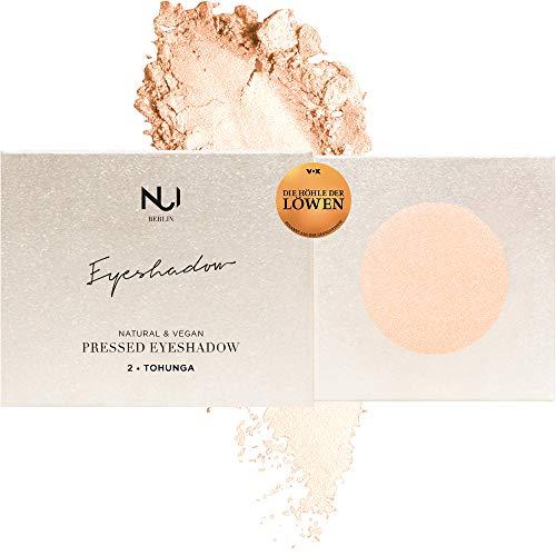 NUI Cosmetics Naturkosmetik vegan natürlich glutenfrei - Natural Pressed Eyeshadow 02 TOHUNGA, schimmernder Lidschatten im Farbton Apricot