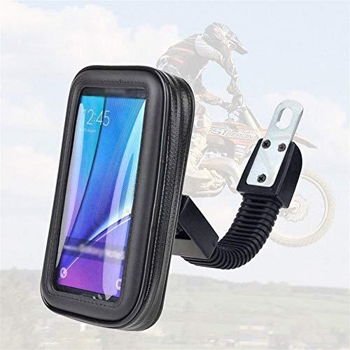 Motorfiets telefoonhouder achteruitkijkspiegel, universele Bike Phone houder, stuurhouder, fietshouder, waterdichte mobiele telefoon zak voor fiets, motorfiets, mountainbike, racefiets - 360 ° draaien - IPhone