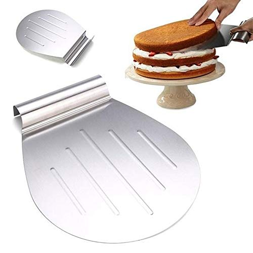 SUPARO Stainless Steel Pizza Lifter, Heavy Duty Cake Lifter Shovel Cookies Transfer Tray, Pizza Peel Pancake Moving Plate for Baking, Pastry and Bread