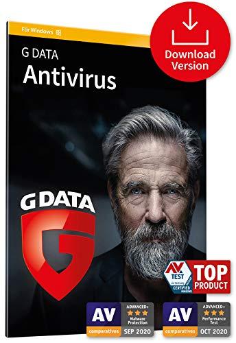 G DATA Antivirus 2021, 1 PC - 1 Jahr, Download, Aktivierungscode per Email, Virenprogramm für Windows 10 / 8 / 7 PC - zukünftige Updates inklusive