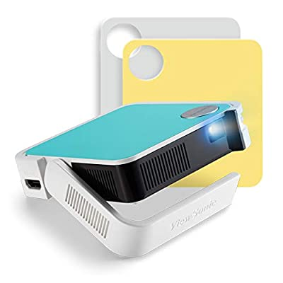 ViewSonic M1 Mini Portable LED Projector with JBL Speaker HDMI USB Type-A Automatic Vertical Keystone Built-in Battery and 1080p Support from ViewSonic Corporation