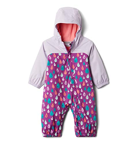 Columbia Baby Girls' Toddler Critter Jitters II Rain Suit, Berry Jam Raindrop/Pale Lilac, 2T