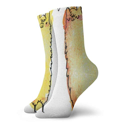 Kawaii Llama For Pinterest - Calcetines largos para hombre y mujer (30 cm)
