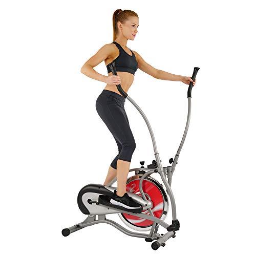 Sunny Health & Fitness SF-E1405 Flywheel Elliptical Trainer, Gray