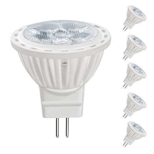 BQHY 12V MR11 GU4.0 LED Light Bulbs, 4 Watt, Not Dimmable 450 Lumen, Tageslichtweiß 6000K, 36° Beam Angle, 40W Halogen Bulbs Equivalent Landscape Accent Recessed Track Lighting(Pack of 6)