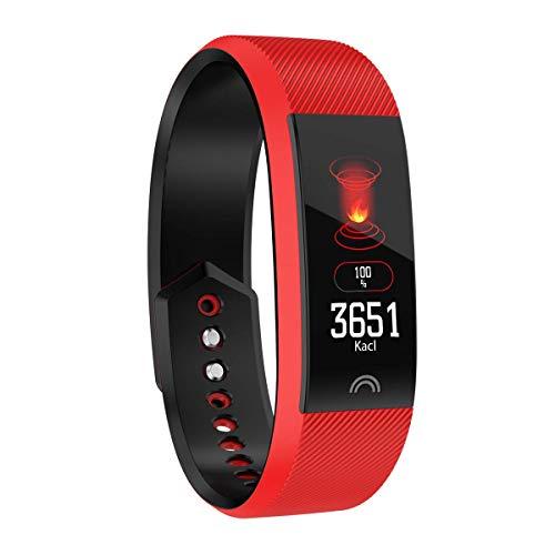 PFMY.DG Pulsera Inteligente Bluetooth Pulsera Pulsera Deportes Recordar el Monitor de la presión Arterial Reloj Impermeable para el Hombre y la Mujer