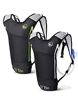 2Pack Hydration Backpack Pack with 2L Water Bladder for Kids Men & Women Hiking Running Cycling - Camel Backpack Camelback with Bike Bottle Pocket