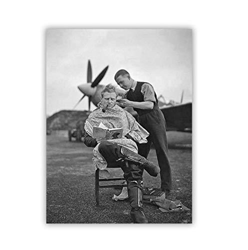 Swarouskll Decoración de peluquería Carteles de fotos vintage Imágenes Impresiones en lienzo Arte de la pared Pintura para decoración del hogar Regalo de decoración -50x70cm Sin marco 1 Uds