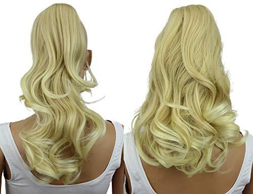 PRETTYSHOP 2 IN 1 30cm Et 40cm Postiche Natte Queue De Cheval Extensions De Cheveux Volumineux Ondulé Blonde H309