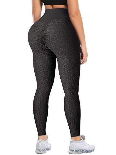 FITVALEN - Leggings da donna per allenamento a vita alta TikTok, pantaloni da yoga, anti-cellulite...