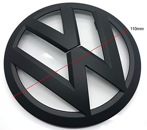 Matte Black 110mm Rückseite Kofferraum Deckel Tailgate Trunk Abzeichen Aufkleber Emblem Für Für Polo 6R MK5 2009-2013