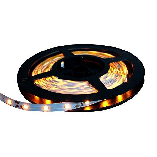LEDテープライト 5m 300灯 12V 両端子 1チップ 薄型 非防水 単体 黄色