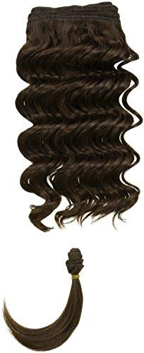 chear Français vague trame Extension de cheveux humains avec de mélange tissage, numéro 4, Taille M, marron foncé 35,6 cm