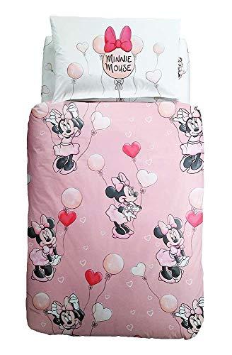 Caleffi Completo Copripiumino Minnie Love Letto 1 Piazza E Mezza Disney