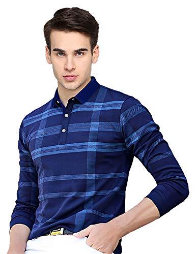 EYEBOGLER Men's Solid Regular fit T-Shirt (T51_Navy M)