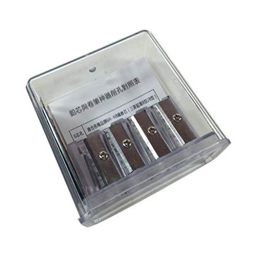 CAFFAINA Sacapuntas Multifuncional de carbón de 4 Agujeros, sacapuntas de Plomo de núcleo Largo, Dibujo artístico, Suministros de Dibujo Manual