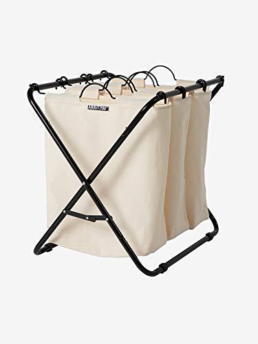 ABOUT YOU Wäschekorb \'Homie\' mit DREI herausnehmbaren Wäschesäcken (Beige)