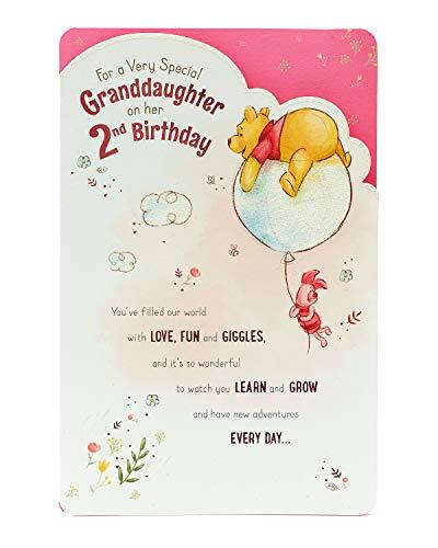 Biglietto Di Auguri Per 2° Compleanno Nipote – 2 Anni – Design Winnie The Pooh