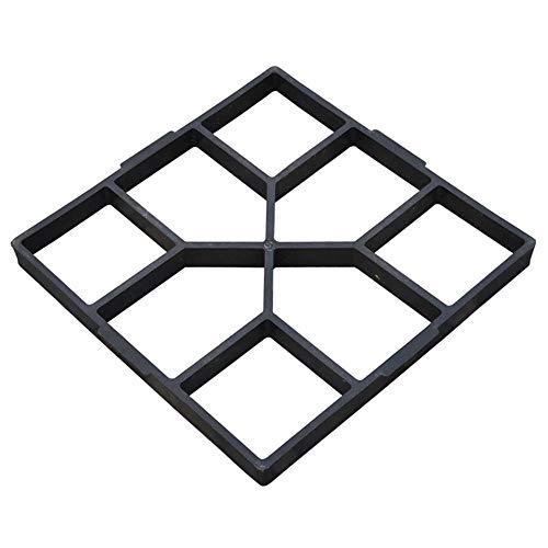 LARS360 D.I.Y Schalungsform Pflasterform Betonform aus 8 Kammer Gehweg Betonpflaster Gießform Schalungsform Garten Schablone für Rasen Hof Garten Gehwegen Trittsteinen (2, Rechteck Muster B)
