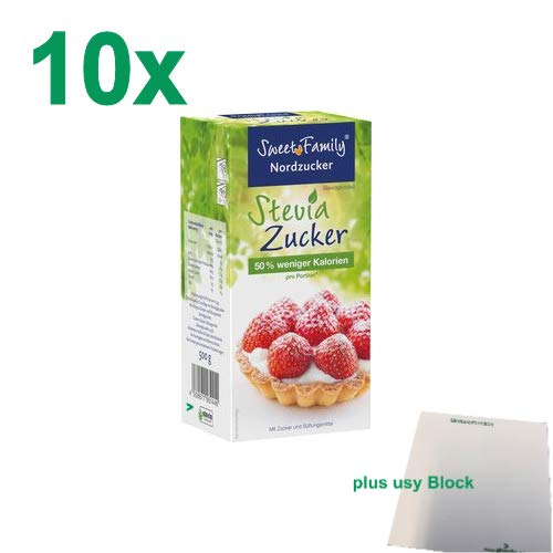 Nordzucker Sweet Family Stevia Zucker Gastropack (10x500g) + usy Block