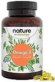 GloryFeel Omega 3 - Cápsulas con 1000mg de Aceite de Pescado - 500mg EPA y 250mg DHA - Ácidos grasos esenciales Omega 3 - Hecho en Alemania