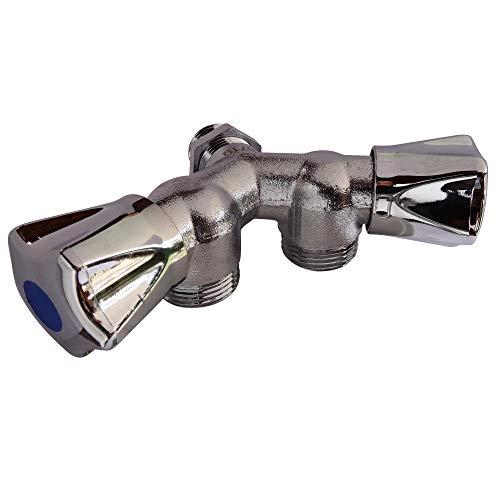 SOMATHERM FOR YOU - cabeza doble pared grifo Y para la conexión de dos máquinas de lavado (lavadora - lavavajillas) - acoplamiento estándar 15/21-20/27