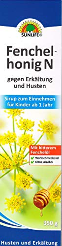 Sunlife Fenchelhonig gegen Erkältung & Husten 350g (ohne Alkohol)