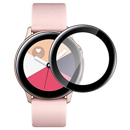 PaceBid [2 Pack Compatibile con Samsung Galaxy Watch Active Pellicola Protettiva, [2.5D] [9H Durezza] [Senza Bolle] Piena Copertura Pellicola Vetro Temperato per Samsung Galaxy Watch Active