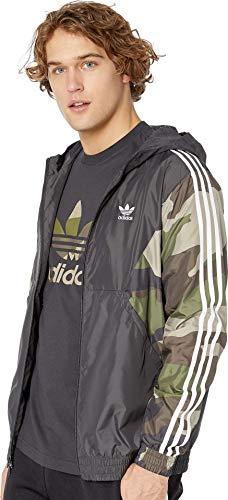 adidas Originals Men's Camo Windbreaker, utility black, X-Large
