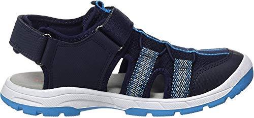 Superfit Jungen TORNADO Geschloßene Sandalen, Blau 80, 37 EU