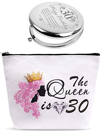 30th Birthday Mirror, 30th Birthday Makeup Bag, 30th Birthday Gifts for Women, Dirty 30 Gifts for Women, Funny Gifts for 30 Year Old Woman, 30th Bday Gift Ideas for Her, Present for Women Turning 30