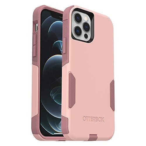 OtterBox Commuter Series Case for iPhone 12 & iPhone 12 Pro - Ballet Way (Pink Salt/Blush) (77-65907)