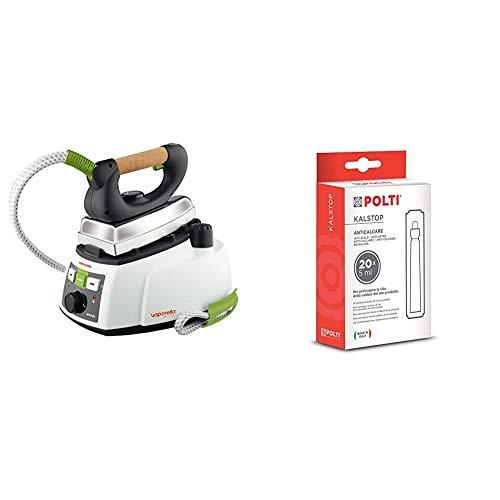 Polti PLEU0188 Vaporella 535 ECO PRO-PLEU0188 Dampgbügelstation, Aluminium, Weiß & Kalstop Entkalker FP2003, 20 Dosen x 5 ml