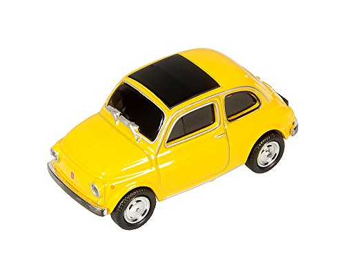 AutoDrive, USB 2 Flash Drive, Fiat 500, 16 GB, gelb