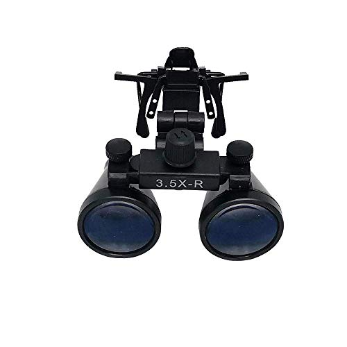 3.5X Portable Binocular Loupes Surgical Magnifying Glasses with Metal Clip 280-380mm Working Distance DY-110