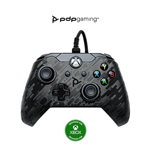 PDP Gaming Wired Controller: Phantom Black - Xbox Series X|S, Xbox One, Xbox, Windows 10, 049-012-NA-CMBK - Xbox Series X