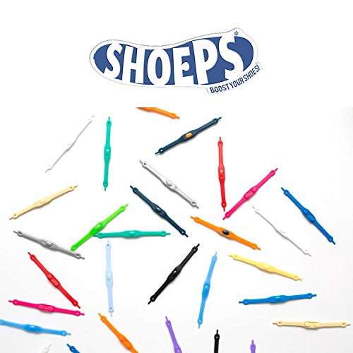 Shoeps Men Elastic 14-Piece Laces, Sky Blue, Regular