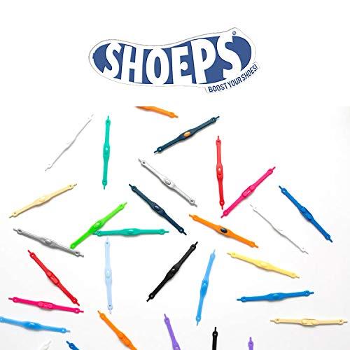 Shoeps Elastic Schnürsenkel, weiß, Normal (14 im Pack), schwarz, Normal (14 im Pack)