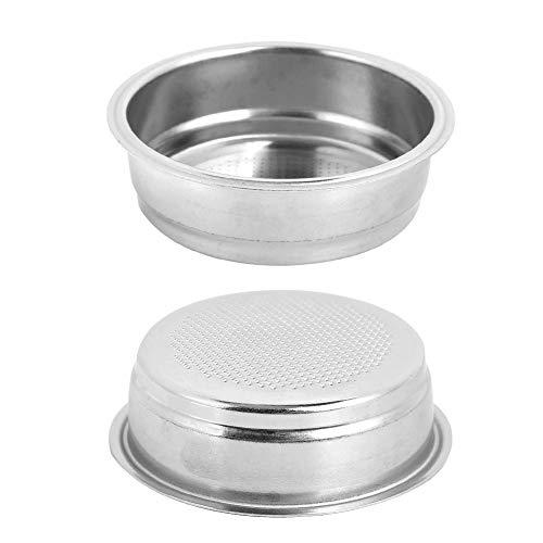 Filtros de café reutilizables, 51 mm de una sola capa de acero inoxidable Filtro de máquina de café Tazón de filtro apto para DeLonghi para oficina en casa sin BPA