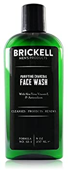 Brickell Men s Purifying Charcoal Face Wash for Men Natural and Organic Daily Facial Cleanser 8 Ounce Scented