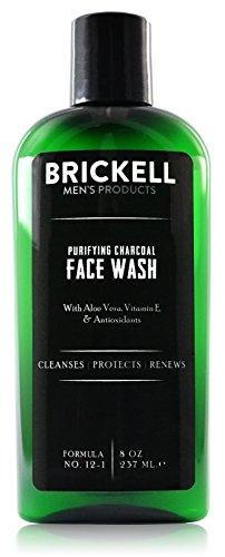 Brickell Men's Purifying Charcoal Face Wash - Natürliche und organische Gesichtsreinigung für den Mann - Männer Reinigungsgel für die ultimative Gesichtspflege - 237 ml - Parfümiert