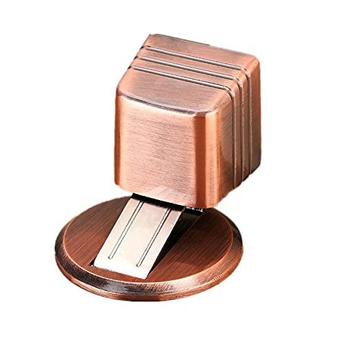 Dispositivo de succión de puerta magnético fuerte, anticolisión, succión de puerta antiviento, topes puertas sin perforación, bronce rojo