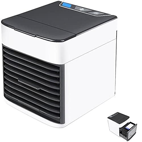 Aire acondicionado portátil mini, Ventilador ártico, Humidificador, climatizador de ambiente para escritorio, y espacios pequeños. LED USB, 7 colores.
