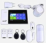 JANDEI - Kit Alarma hogar y Negocio inalámbrica, Tuya Smart, Tarjeta gsm, Alexa, Google Home