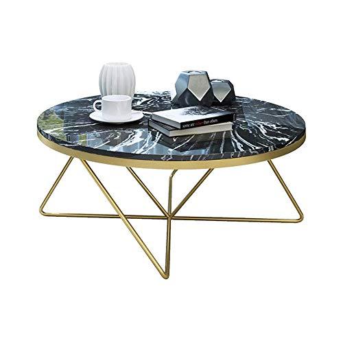 XINTONGSPP Sala de Estar Redonda Mesa de café, Simple línea de diseño Creativo Mesa de café, Marco de Hierro Mesa de café, de Metal Pata de la Mesa Lateral, 80 * 40 Cm