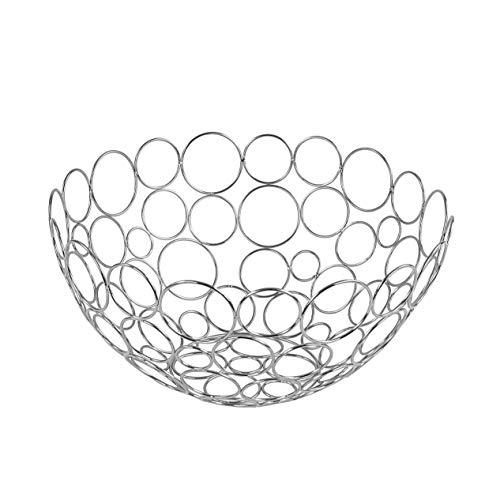 Spectrum Diversified Circles Round Fruit Bowl, Contemporary Kitchen Vegetable & Fruit Basket, Geometric Modern Kitchen Countertop Food Storage, Shapes...