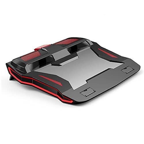 SKTE NUEVO RGB GAMING Refrigerador Para Computadora Portátil Soporte De Cuaderno Ajustable 3000 RPM Potente Almohadilla De Enfriamiento De Flujo De Aire Para Una Computadora Portátil De 12-17 Pulgadas