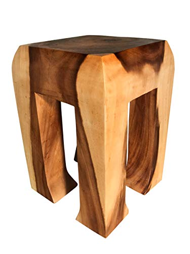 Asiatika-Online.de Blumensäule Blumenhocker Ständer Asien Möbel Thailand Hocker massiv Holz 50CM