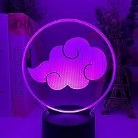 アニメ鳴門暁ロゴテーブル子供用3Dランプ子供寝室の装飾常夜灯彼のためのマンガギフトアクリルLEDナイトライトランプ-リモコン