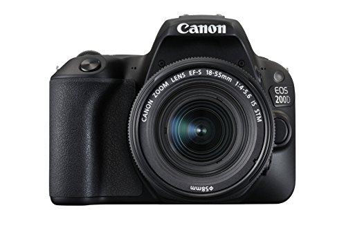 Canon EOS 200D Digital SLR Camera with EF-S 18 - 55 mm f/4-5.6 IS STM Lens - Black